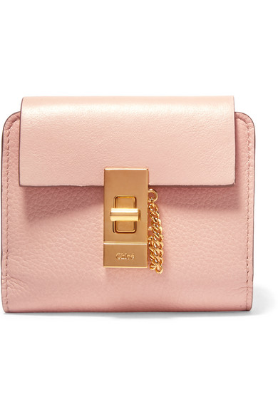 Chloé - Drew Small Textured-leather Wallet - Blush