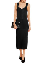 Calvin Klein Collection Crepe and ribbed-knit dress