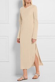 Calvin Klein Collection Hilma satin-trimmed crepe maxi dress