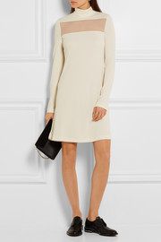 Calvin Klein Collection Bara tulle-paneled stretch-crepe dress