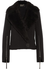 Calvin Klein Collection Hiam shearling-trimmed wool jacket