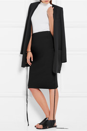 Calvin Klein Collection Bianka ribbed stretch-knit skirt