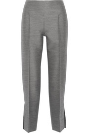 Calvin Klein Collection Hinda wool and silk-blend straight-leg pants