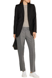 Hinda wool and silk-blend straight-leg pants