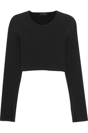 Bao cropped ribbed-knit top