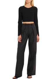 Calvin Klein Collection Bao cropped ribbed-knit top