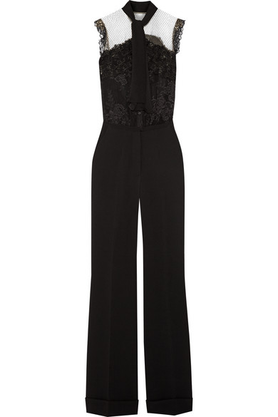 Quality Original New Styles Pussy Bow Jumpsuit Elie Saab Cheap Sale Pay With Paypal Discount Official 6Ikrs7hC