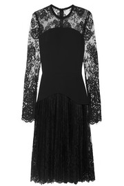 Elie Saab Chantilly lace and crepe mini dress