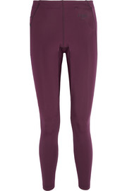 Fendi Paneled stretch-jersey leggings