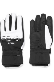 Two-tone shell ski gloves