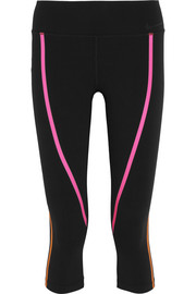 Nike Legendary cropped neon-trimmed stretch-jersey leggings