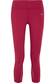 Nike Epic Lux cropped mesh-paneled Dri-FIT stretch-jersey leggings