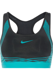 Nike Pro Hyper Classic printed Dri-FIT stretch-jersey sports bra