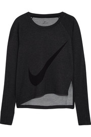 Nike Sphere-Dry printed stretch-jersey sweatshirt