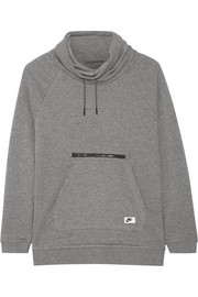 Nike Cotton-blend jersey turtleneck sweatshirt