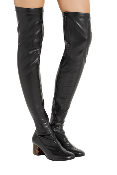 Stella McCartney | Faux leather over-the-knee boots | NET-A-PORTER.COM