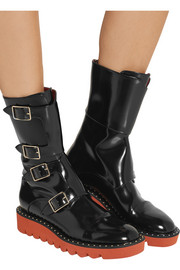 Stella McCartney Faux patent-leather boots