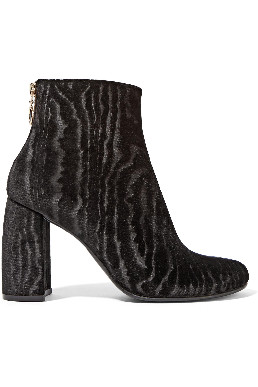 Stella McCartney Flocked velvet ankle boots