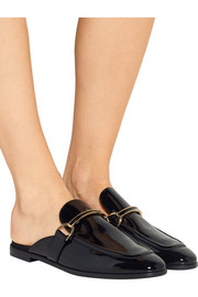 Stella McCartney Faux patent-leather slippers