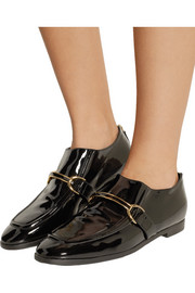 Stella McCartney Faux patent-leather loafers
