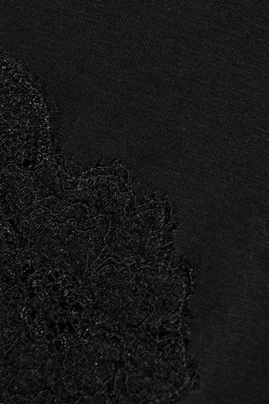 La Perla Souple Body aus Stretch-Jersey aus einer Baumwollmischung und Spitze