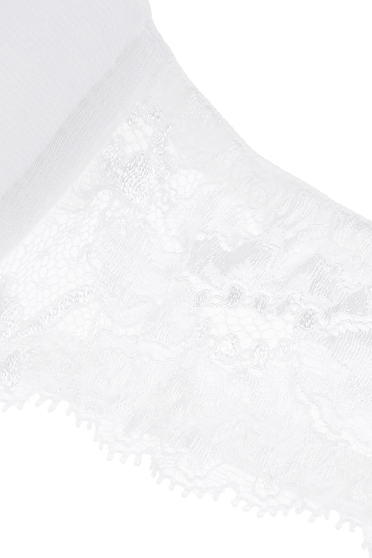 La Perla Souple lace-trimmed stretch cotton-blend jersey contour bra