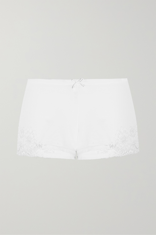 La Perla Souple lace-trimmed stretch-cotton jersey pajama shorts