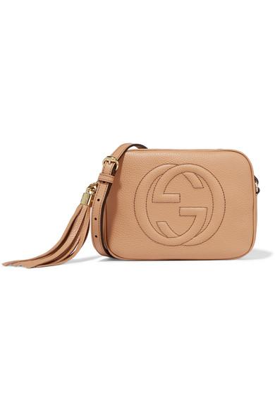 Gucci - Soho Disco Textured-leather Shoulder Bag - Sand