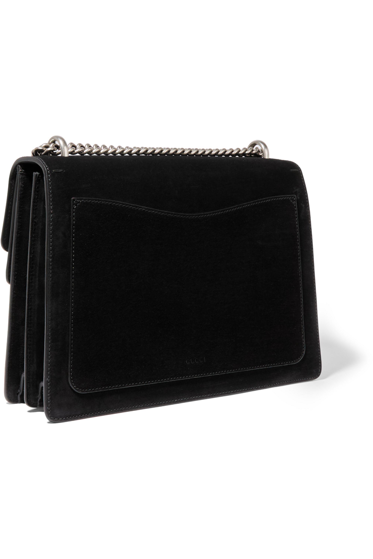 Gucci Dionysus large leather-trimmed suede shoulder bag