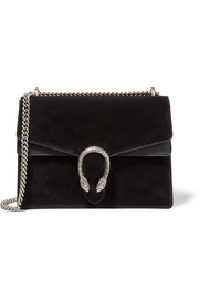 Dionysus large leather-trimmed suede shoulder bag
