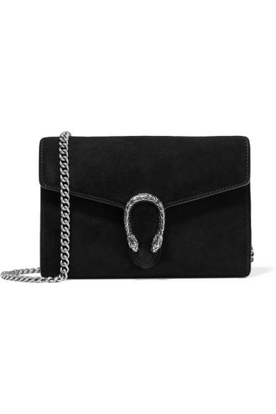0a4763eafd4977 Gucci | Dionysus suede and leather shoulder bag | NET-A-PORTER.COM