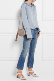 Soho mini textured-leather shoulder bag