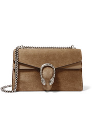 Gucci Dionysus medium leather-trimmed suede shoulder bag