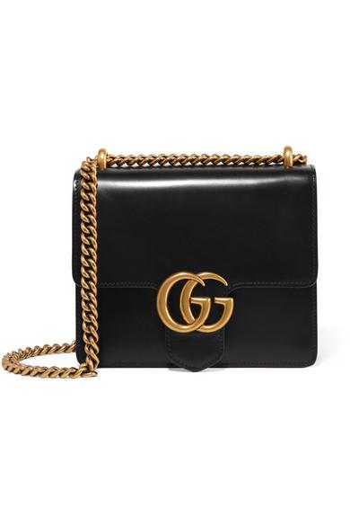 Gucci - Gg Marmont Mini Leather Shoulder Bag - Black