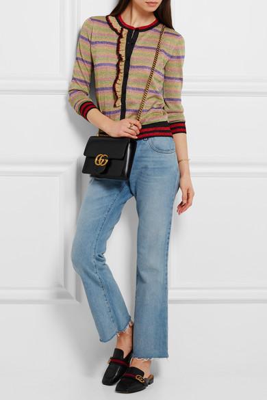Gucci   Sac porté épaule en cuir GG Marmont Mini   NET-A-PORTER.COM d9248bbc80b