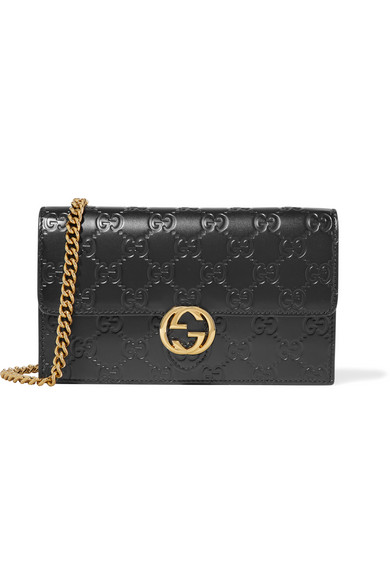 277e32c89bf19 Gucci. Icon embossed leather shoulder bag