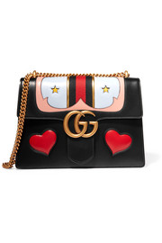 Gucci GG Marmont medium appliquéd leather shoulder bag