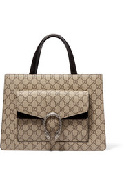 Gucci Dionysus medium coated canvas and suede tote
