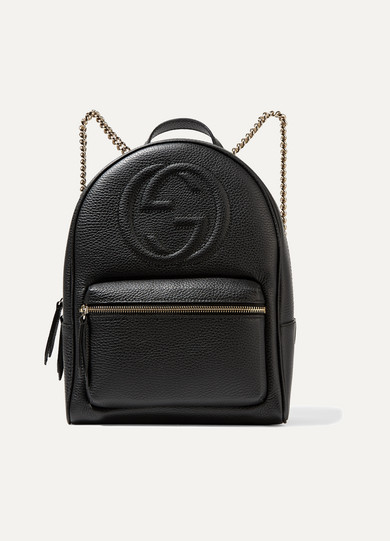 Gucci - Soho Textured-leather Backpack - Black
