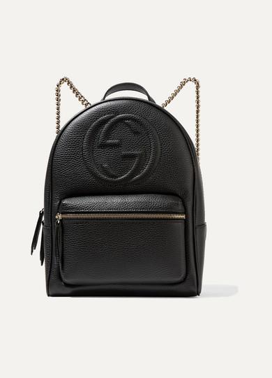 gucci soho texturedleather backpack netaportercom