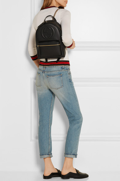 aafea4d18 Gucci | Soho textured-leather backpack | NET-A-PORTER.COM