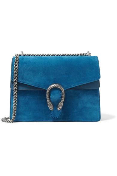 Gucci - Dionysus Large Suede Shoulder Bag - Blue