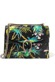 Gucci Dionysus large printed textured-leather shoulder bag
