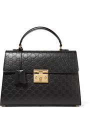 Gucci Padlock embossed leather tote
