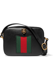 Gucci Animalier Disco canvas-paneled textured-leather shoulder bag