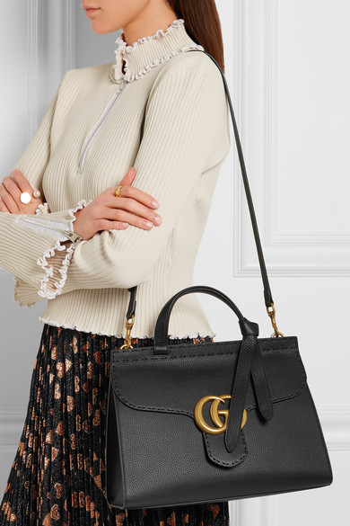 Gucci Gg Marmont Small Textured Leather Tote Net A
