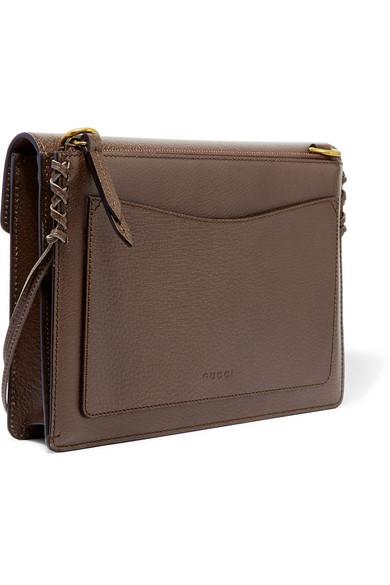 def94c28b84e1d Gucci | Animalier tasseled textured-leather shoulder bag | NET-A ...