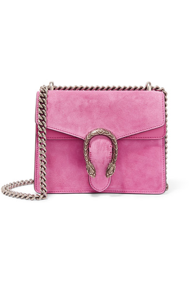 Gucci - Dionysus Mini Suede Shoulder Bag - Bubblegum