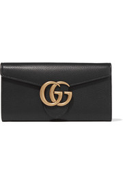 Gucci GG Marmont textured-leather wallet