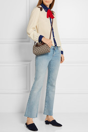 Gucci Boston mini printed coated canvas and leather shoulder bag